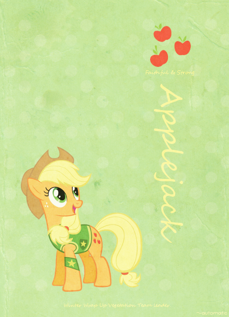 Applejack Retro Poster by automaticlolXD