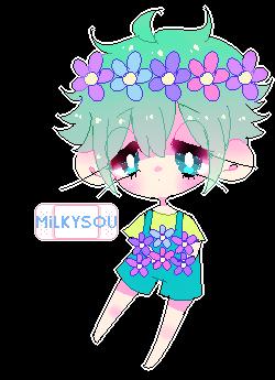 fa: flower boy by milkysou