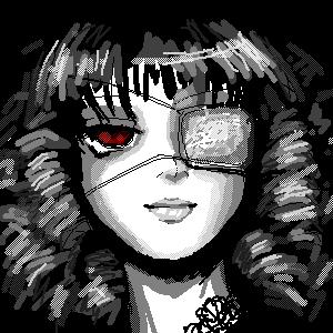 Goth loli oekaki by girlinblack