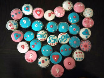 Gluten-free birthday cupcakes