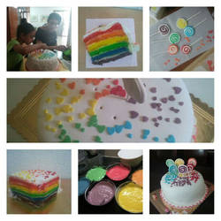 More rainbow cake