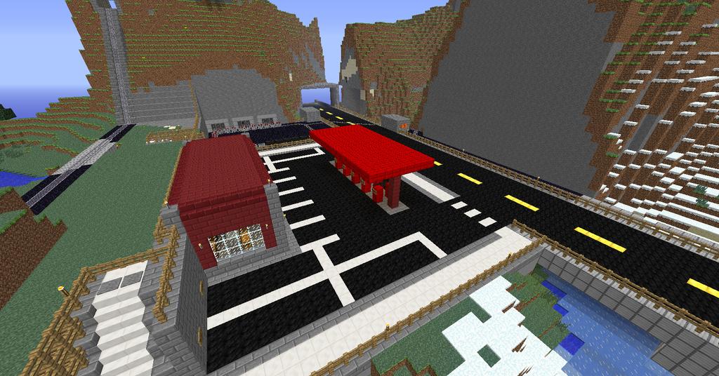 minecraft gas station by wolf427 on deviantart