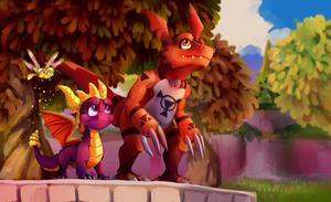 Spyro and guilmon