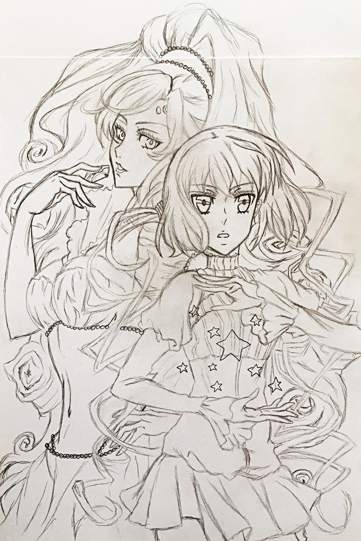 Iva and Tsukumo Sketch by richardsmae