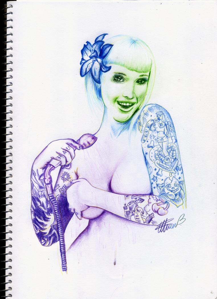 Hair ink tattoos