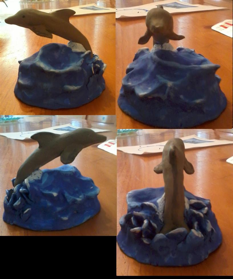 Tiger's Clay Sculptures Dolphin_sculpture_by_leopardfire_prod-d3l777k