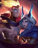 Rakan  Xayah League of Legends by ZephyrMy