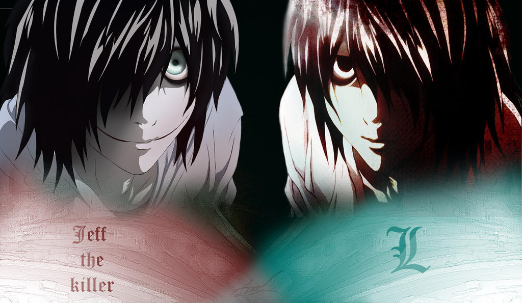 jeff the killer and slenderman wallpaper