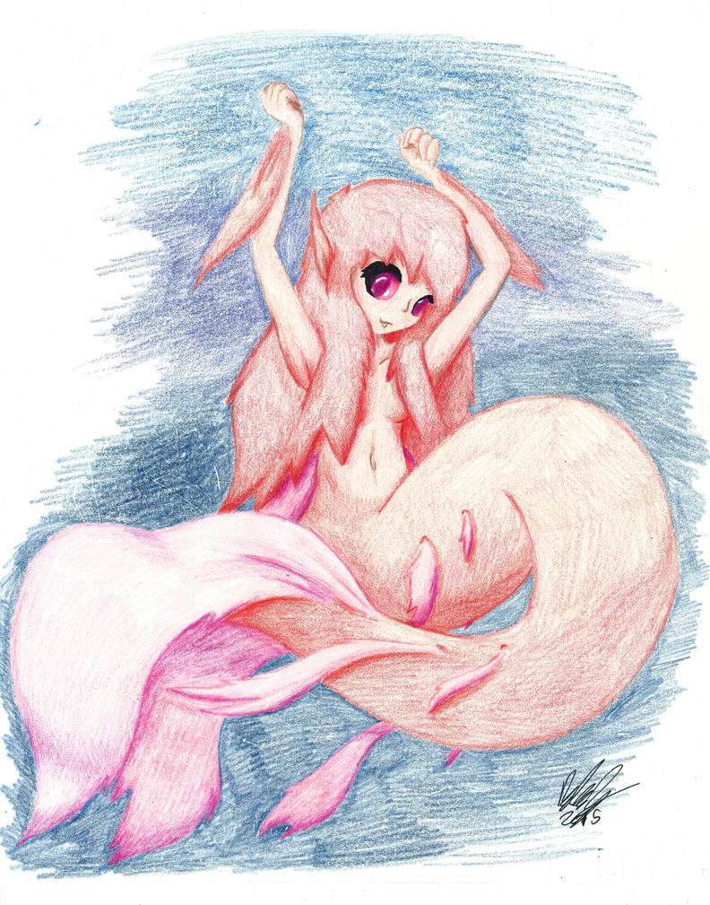 Crimson Mermaid by BrutakaBlaziken