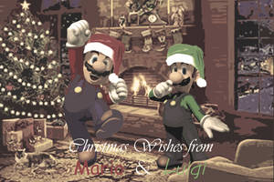 A Very Mario Christmas by DevilishInk