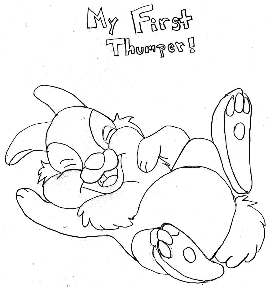 Thumper by thumpygirl on deviantart for Thumper coloring pages
