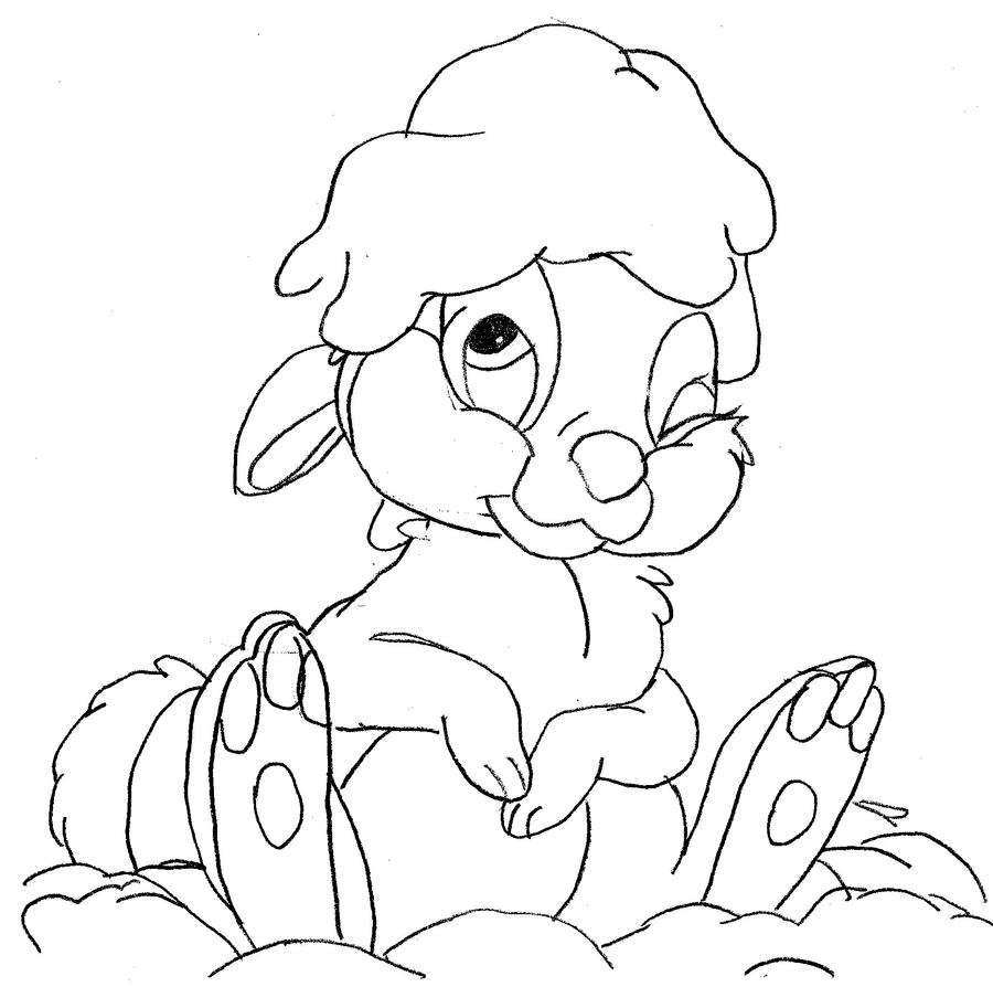 thumper coloring pages - photo#34