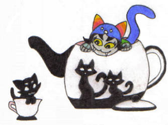Tea Time with Nepeta by Parrotgotales