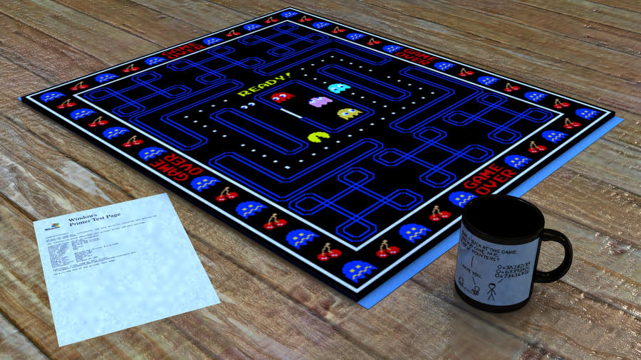 pacman rug design in scene by viper9x on deviantart