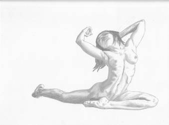 Female Figure Drawing by tntjperic