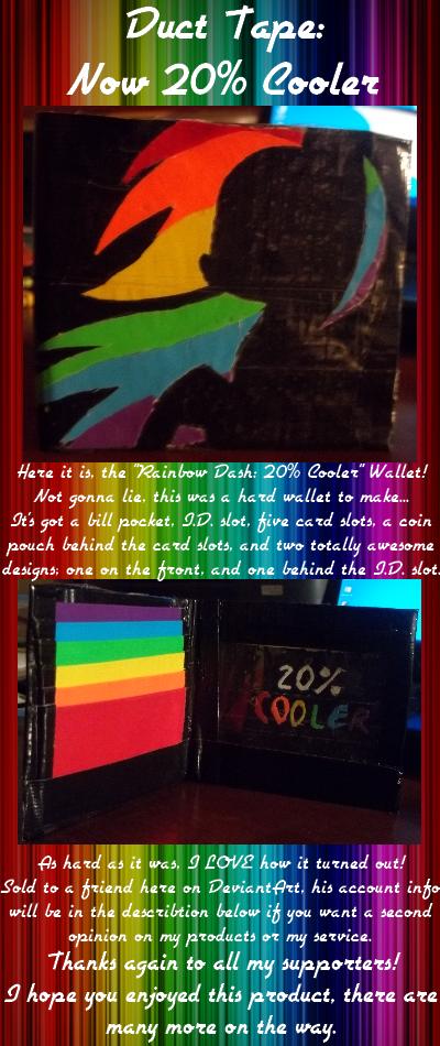 Wallet - Rainbow Dash: 20% Cooler by AquaQueen27