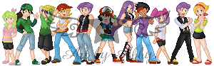 Pokemon 25 Years Later - Sprite Group Shot by AquaQueen27