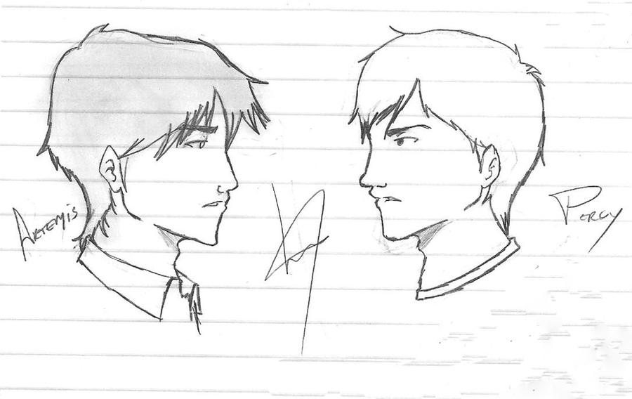Percy Jackson Hermes Drawing Artemis Fowl and Percy Jackson