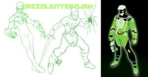 GREEN JAM o' Lanterns