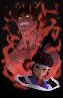 Evil Ryu and Sakura by theCHAMBA