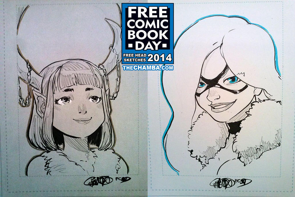 FCBD 2014 Sketches  23 - 24 by theCHAMBA