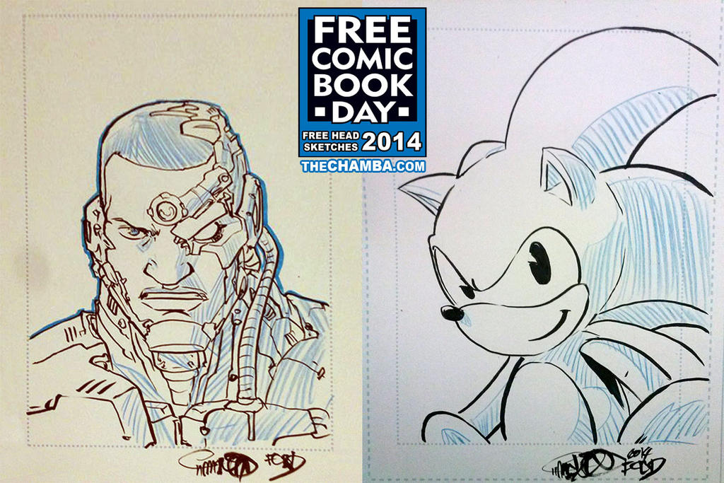 FCBD 2014 Sketches  27 - 28 by theCHAMBA
