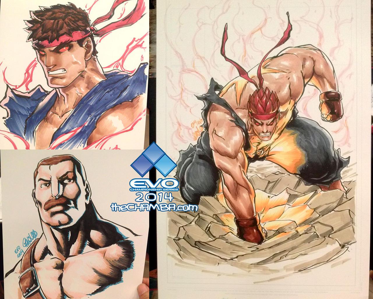 EVO 2014 - 01 - Evil Ryu x2 + Mike Haggar by theCHAMBA