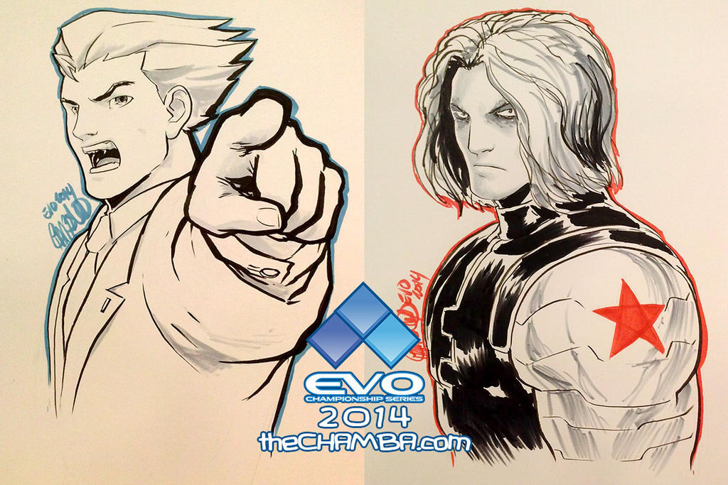 EVO 2014 - 03 - Phoenix Wright + Winter Soldier by theCHAMBA