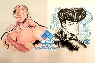 EVO 2014 - 12 - Sagat + Josuke Higashikata by theCHAMBA