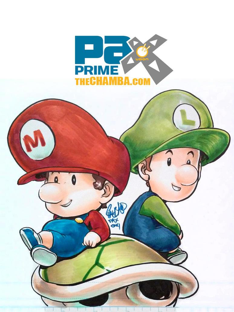 PAX2014 - Baby Mario and Luigi by theCHAMBA