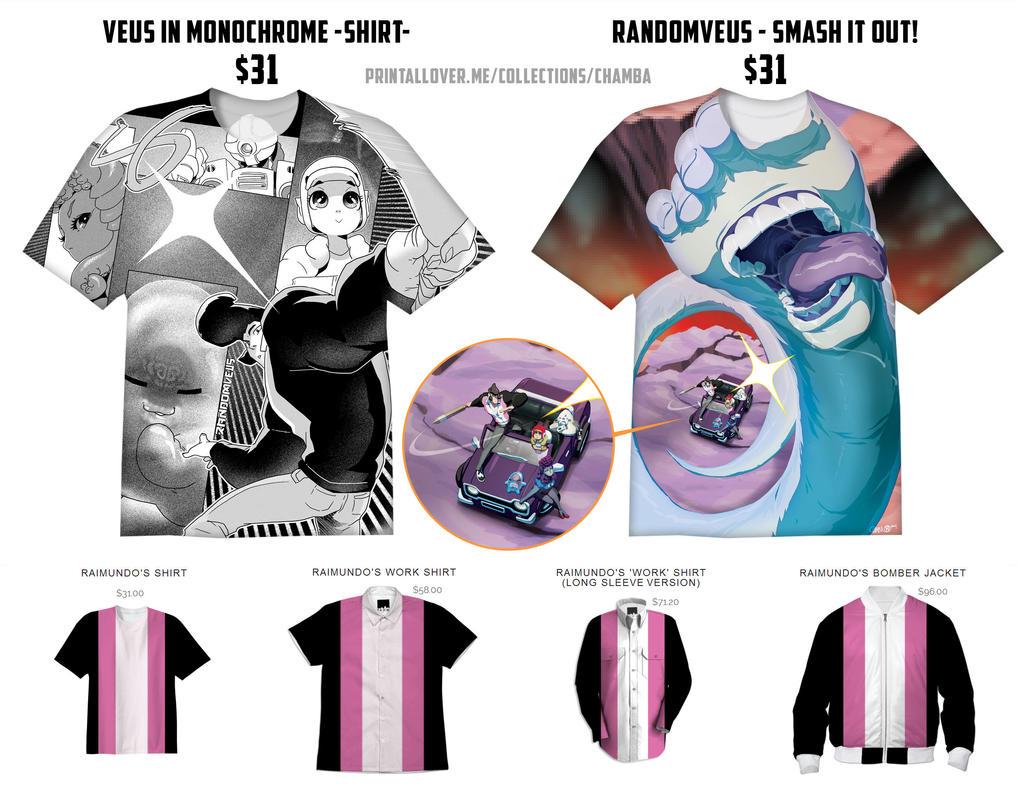 RandomVeus shirts by theCHAMBA