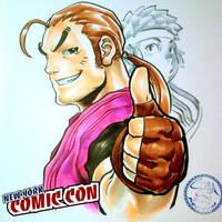 Nycc-14  Dan Hibiki and Sakura by theCHAMBA