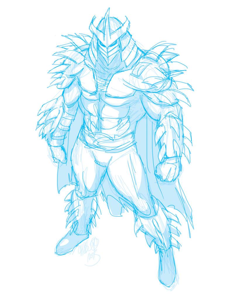 how to draw super shredder