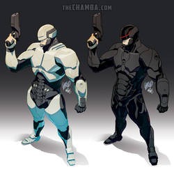 Detroit Cybernetic police officer