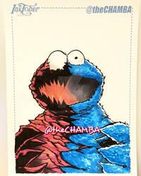 Inktober 2016 - 28 - Cookie Monster