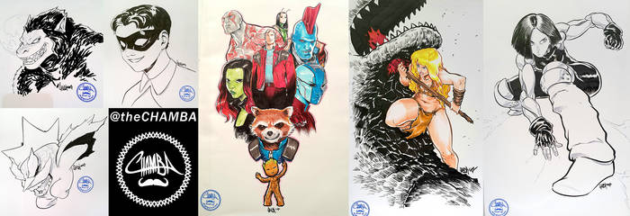 Supanova Melbourne 2017 - Commissions pt.2 by theCHAMBA