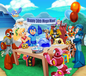 Happy 30th Blue Bomber by theCHAMBA