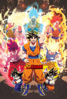 Evolution of Goku by theCHAMBA
