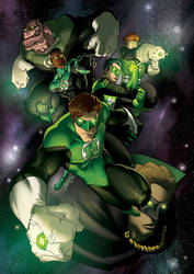 the Green Lanterns by theCHAMBA
