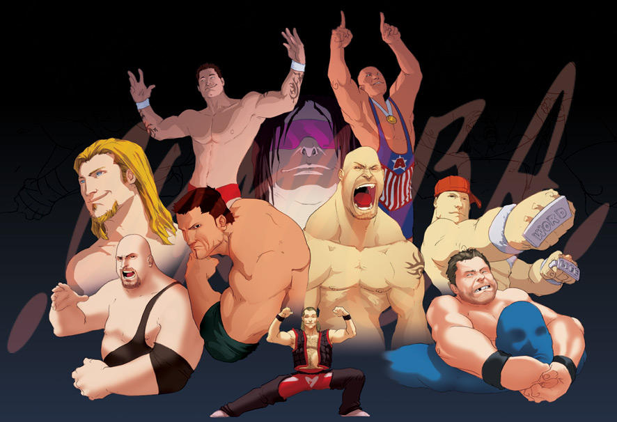 wwe colour wip by thechamba - Wwe Pictures To Colour