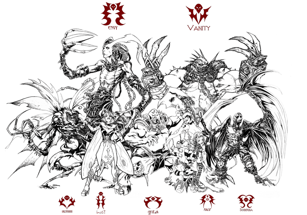 Defected Angels 7 Sins By Thechamba On Deviantart