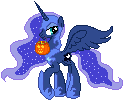 Pixel Princess Luna by Chocolatesundae123