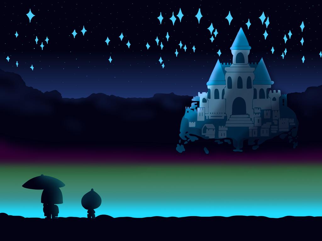 undertale castle by chocolatesundae123 - Blue Castle 2016