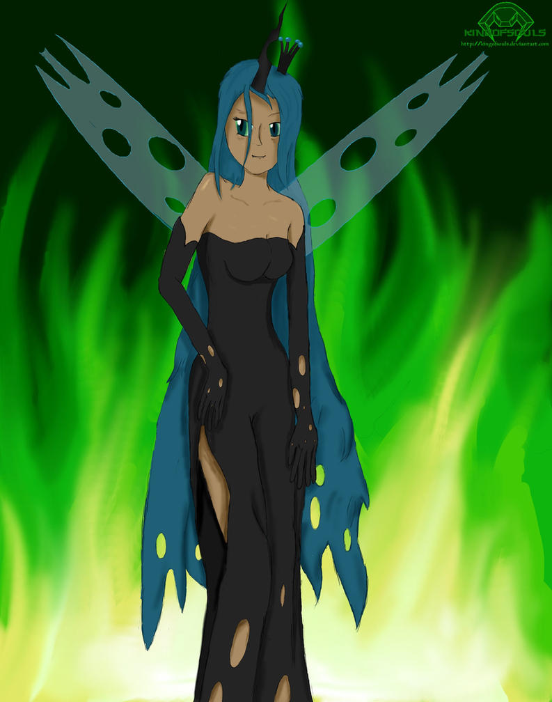 Queen Chrysalis (human) by Kingofsouls