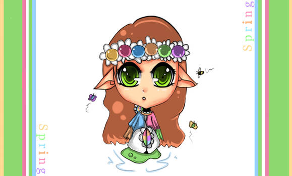Season Project Spring Chibi