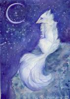 Lunar Kitsune by Didi-Aubergenius