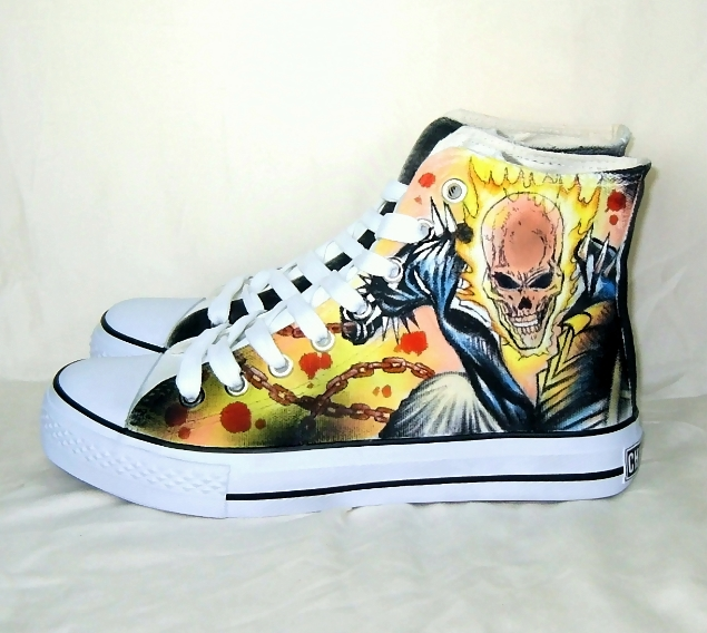 Hand painted GHOST RIDE shoes by augurlee