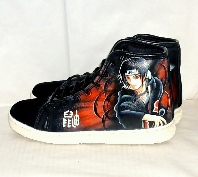 Hand painted Itachi shoes by augurlee