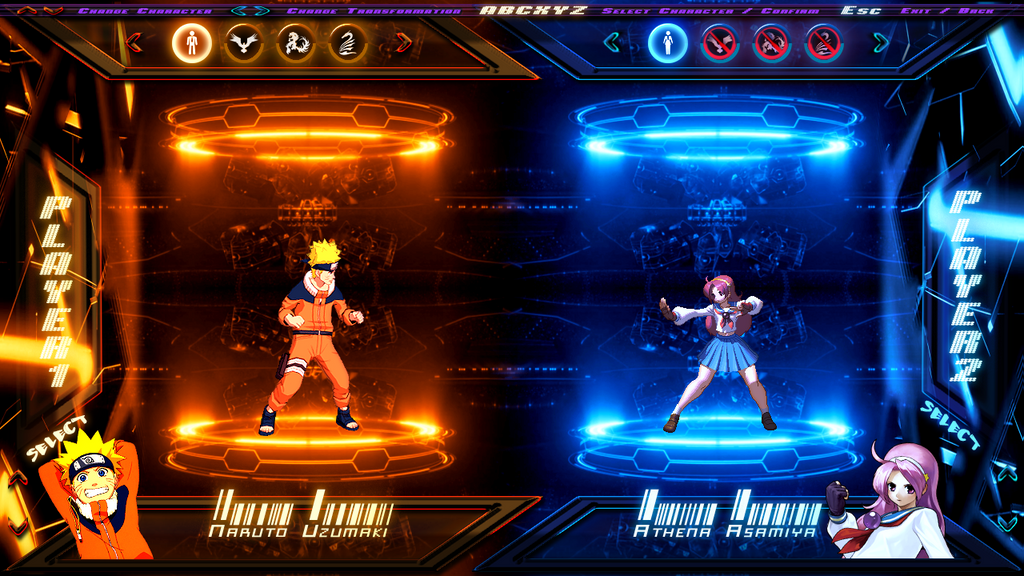 Mugen Screen Pack 1 1 Select Screen Demo 2 By Damoncaffrey On Deviantart
