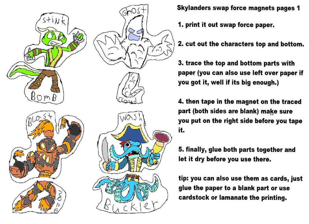 skylanders swap force cut outs 1 by theclockoogang